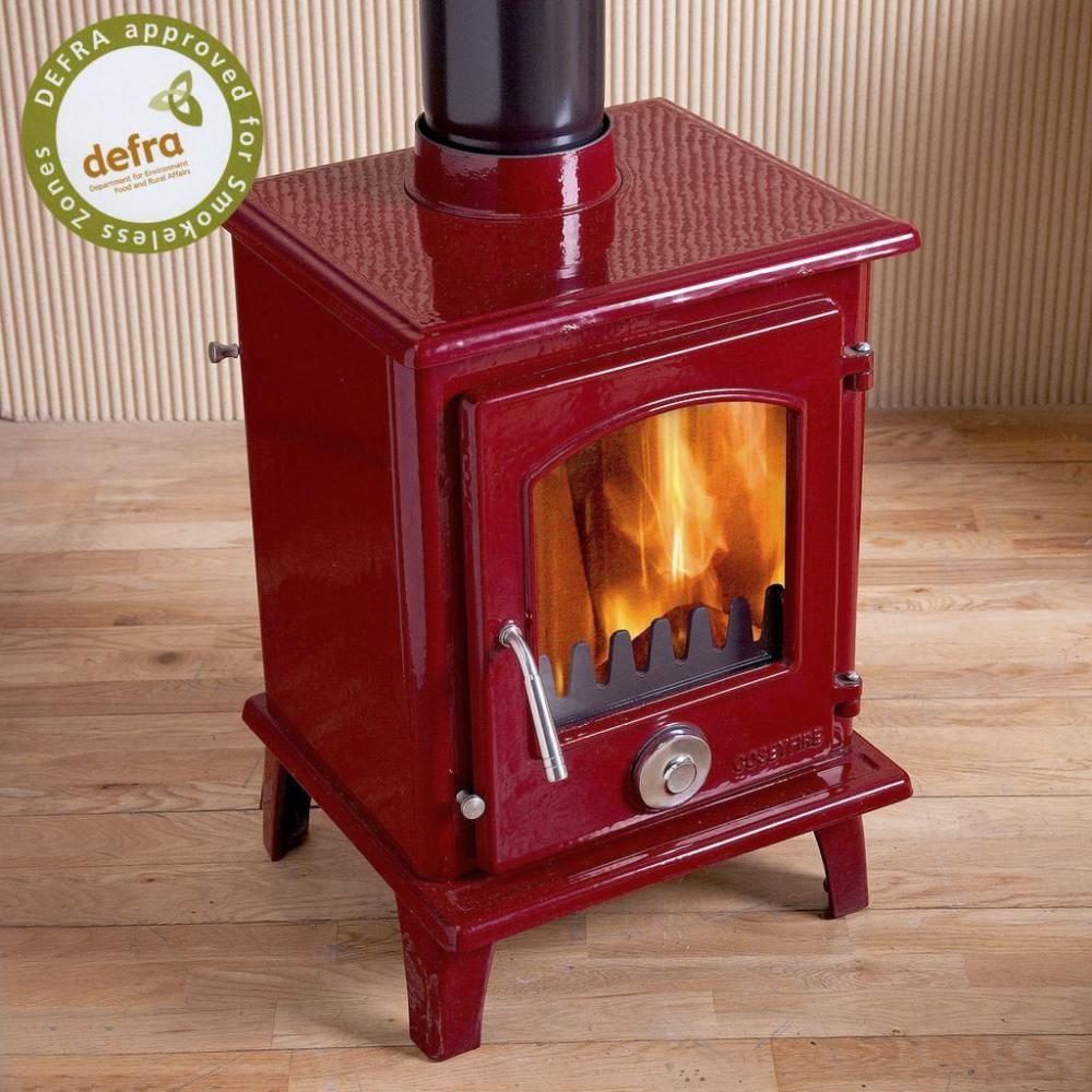 Defra Approved Red Enamel Woodburning Stove Coseyfire Petit 5kw Wood Burning Stove From Stove Wor Small Wood Burning Stove Wood Burning Stove Tiny Wood Stove