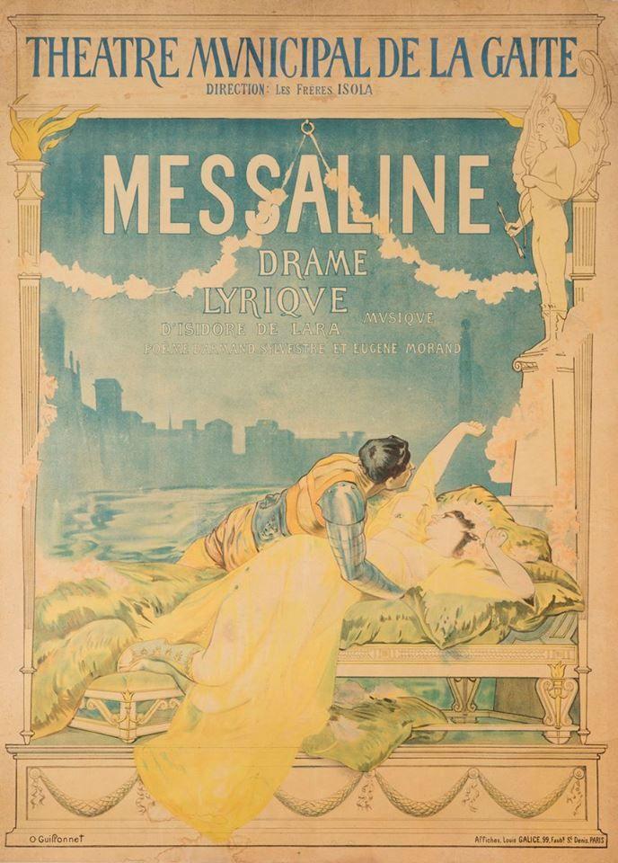 Affiche Opera Messalina, waarvoor Mata Hari model heeft gestaan -foto van Jan Brugman.