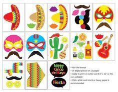 Fiesta Birthday Party Decorations Cinco De Mayo Printable Photo
