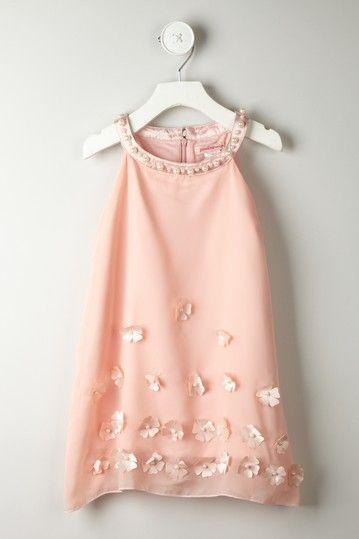 Flower Faux Pearl Yoke Dress on HauteLook