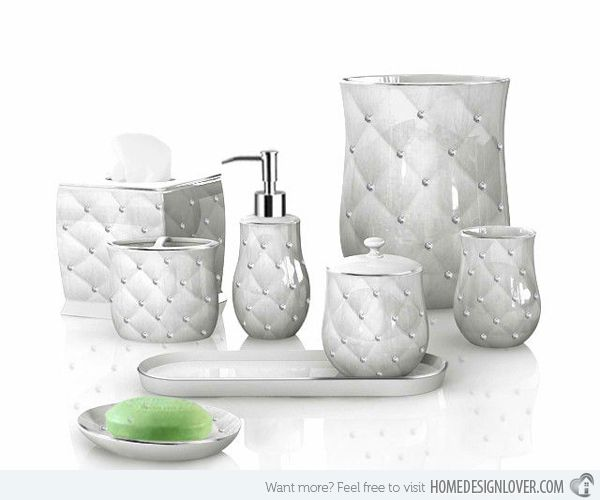 15 Luxury Bathroom Accessories Set Home Design Lover Silver Bathroom Accessories Bathroom Accessories Luxury Bathroom Accessories Sets