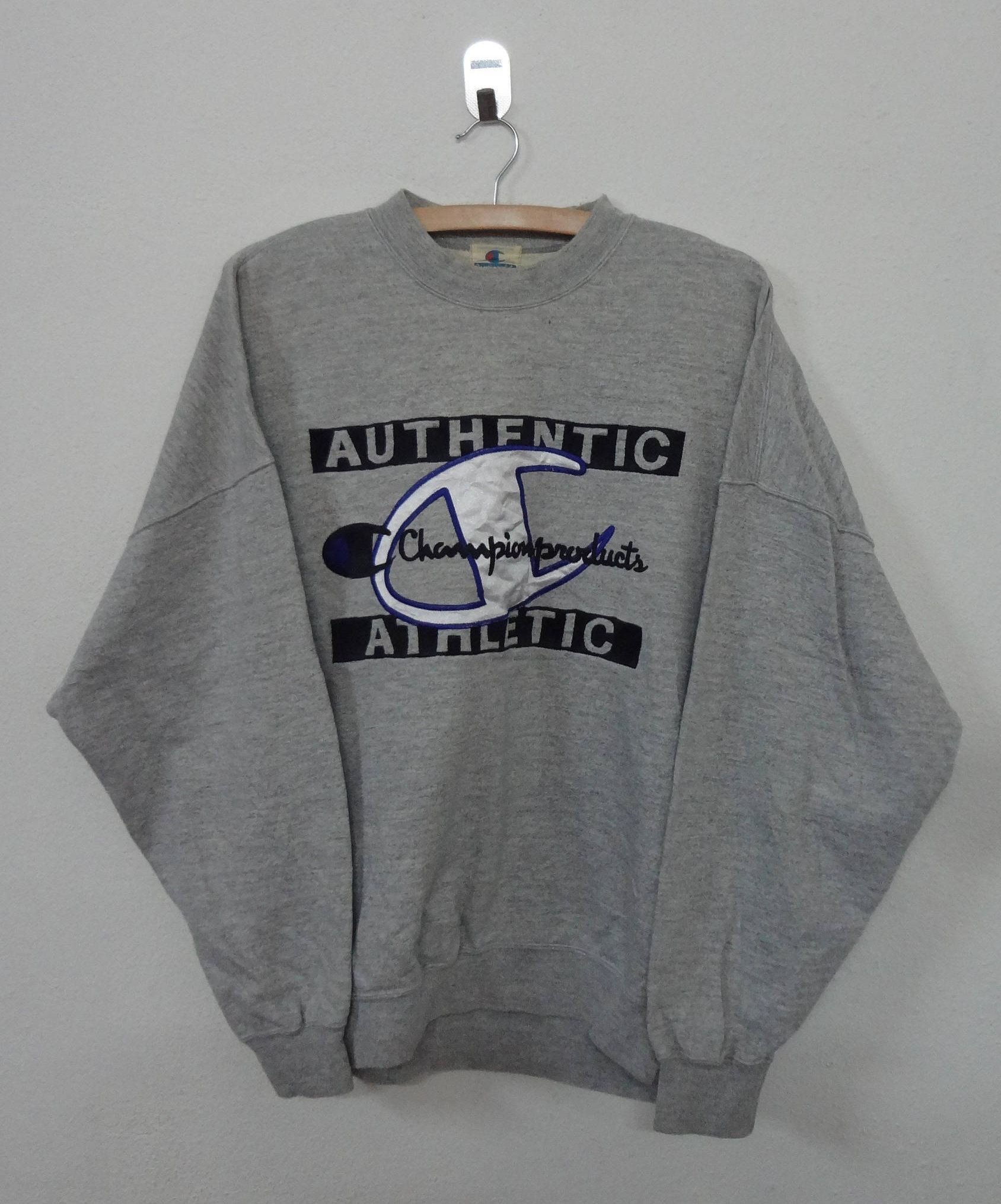 2daaccab7 Vintage 90 s Champion Sweatshirt Champion Products USA Spellout Big Logo  Embroidery Pullover Jumper Sweater Hip Hop Swag by NotreShop on Etsy