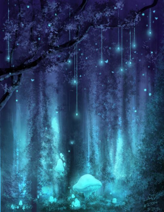 The Tangled Wood Blue Forest Magical Light Fairy Woods Glow Magic Fantasy Places Fantasy Art Landscapes Fantasy Landscape Fantasy Artwork