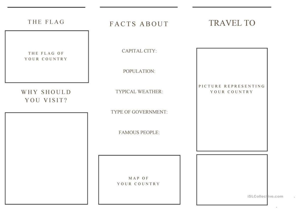 Travel Brochure Template And Example Brochure English Esl Regarding Travel Brochure Template For S Brochure Template Travel Brochure Template Travel Brochure Travel brochure template for students