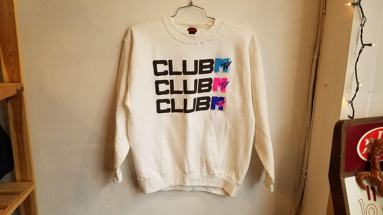 81c8347b7a7 Vintage 90's Club MTV Crewneck Unisex Sweatshirt by RadOTR on Etsy ...
