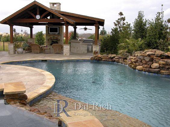 Dallas Landscape Architects Outdoor Kitchens Fireplaces Dallas Mckinney Richardson Decks Stamped Concrete Backyard Pool Pool Houses