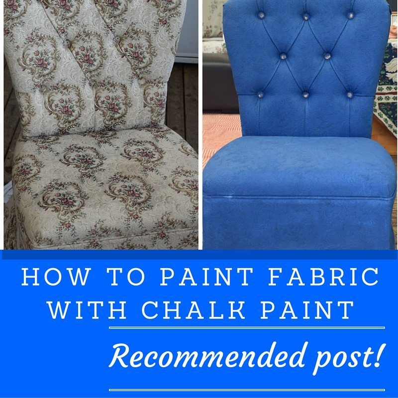 Painting an Upholstered Chair with Annie Sloan Chalk Paint #paintfabric