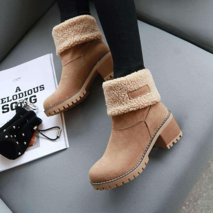 Fashion Leisure Mens Flat Shoe Round Head Keep Warm Non-Slip Lace-UP Snow Boots Pandaie-Mens Shoes