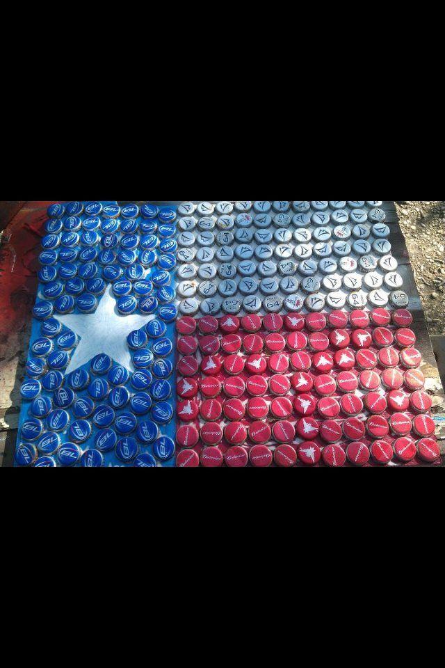 Homegrown Texan Texas Beer Bottle Cap Flag Bottle Cap