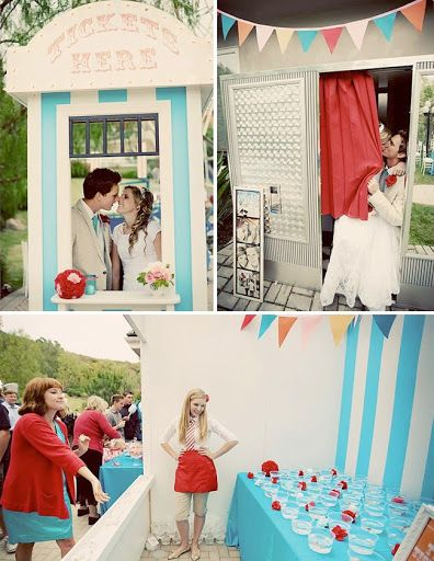 carnival wedding photos decor