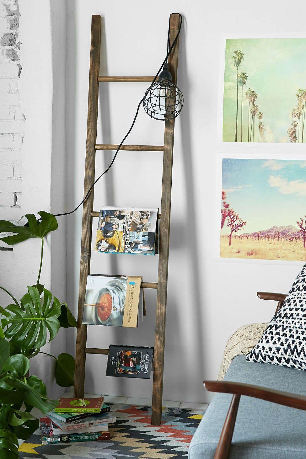 Wooden blanket ladder echelle bois deco deco et idee Echelle decorative bois