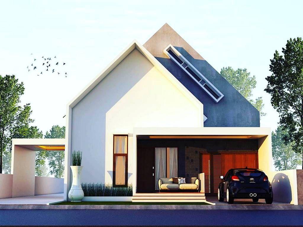 Desain Rumah Minimalis Terbaru  Lantai Yang Unik Tampak Depan