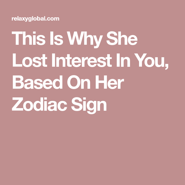 Signs she losing interest