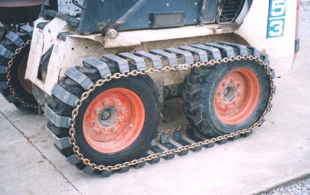 Skid steer steel tracks for 10 x 16.5 tires, Bobcat tracks,