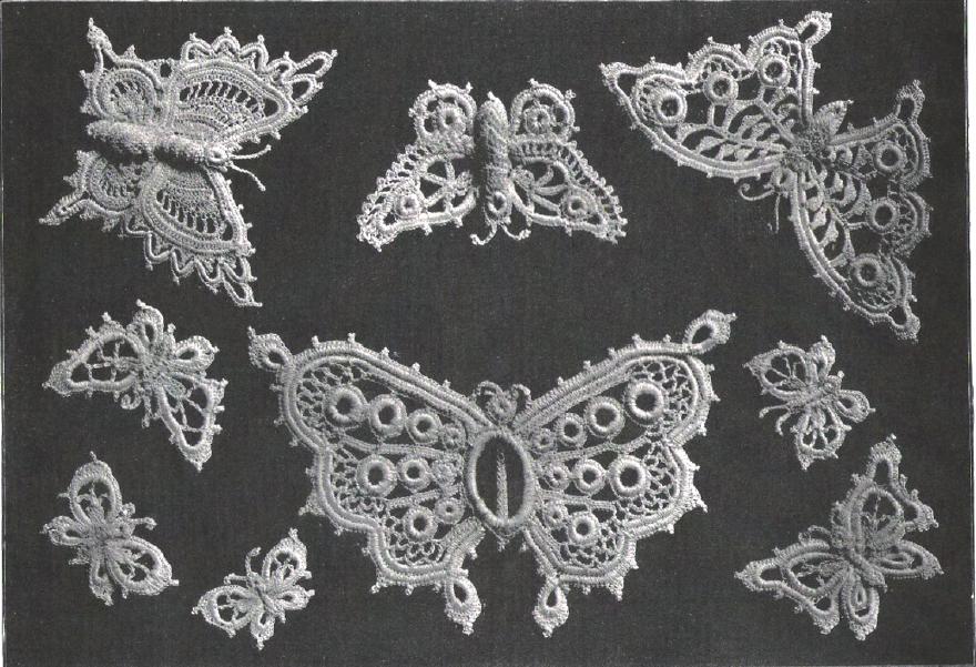 Butterfly Irish Crochet Butterflies From Antique Pattern Library