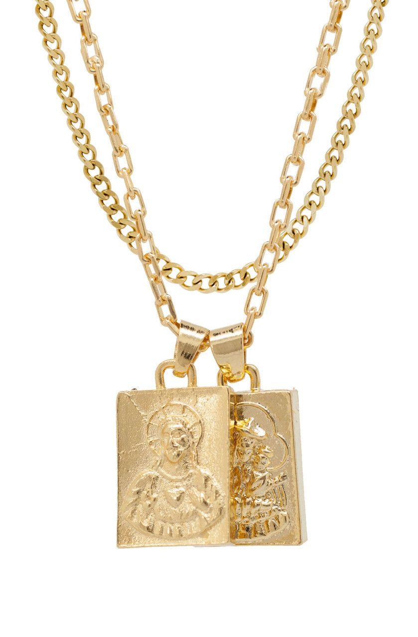 Mister Mr Scapular Gold Necklace Necklace Gold Necklace Gold