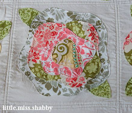 French Roses Quilt Little Miss Shabby French Roses Quilt