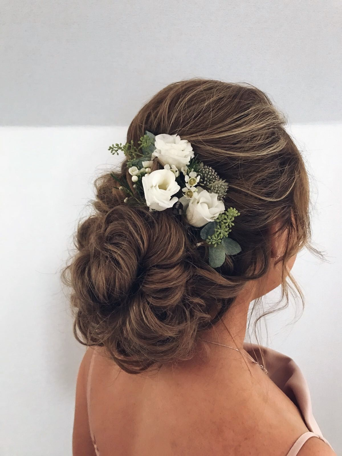 classic bridal hair style for a traditional bride. fresh