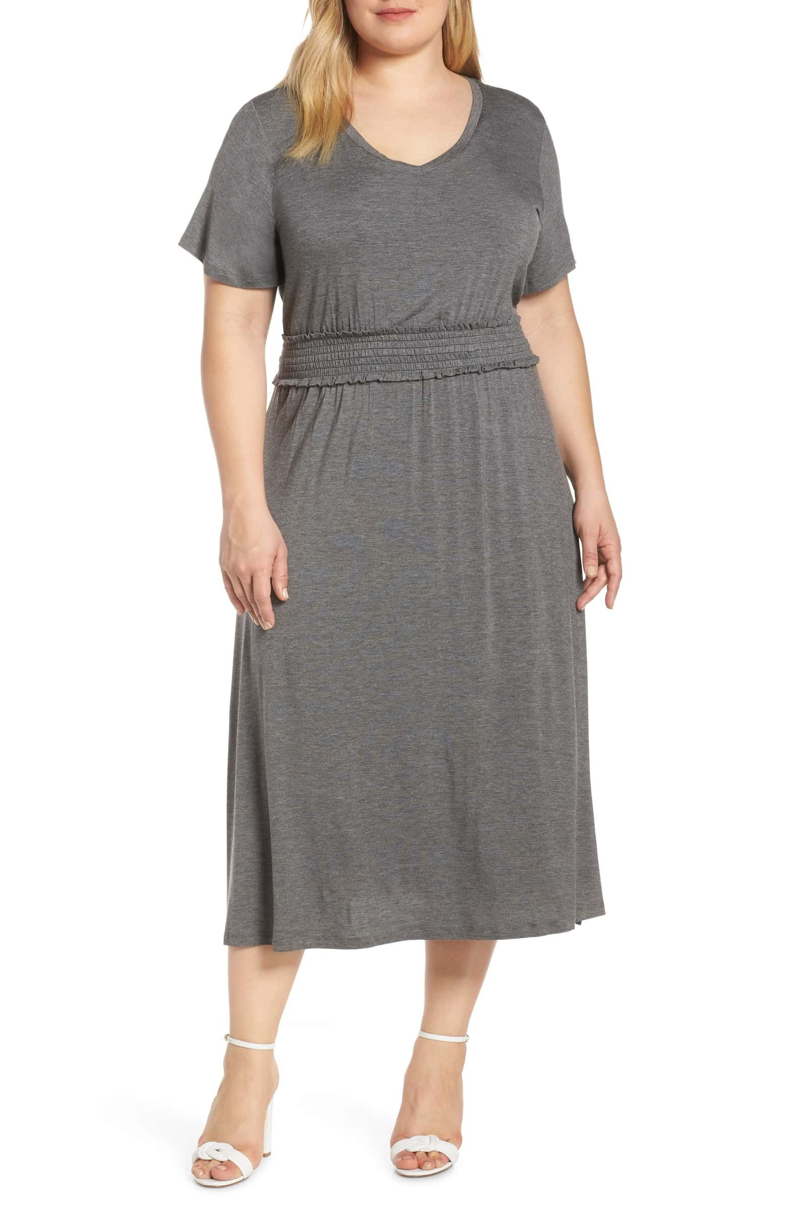 Bobeau Simone Smocked Waist Jersey Dress (Plus Size)   Nordstrom ...