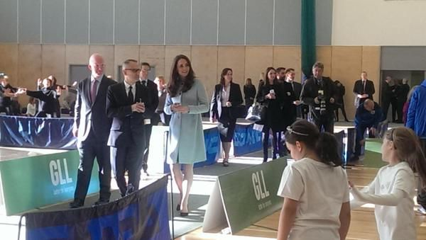 The Duchess of Cambridge tours a new Leisure Centre as she undertakes engagements in Kensington