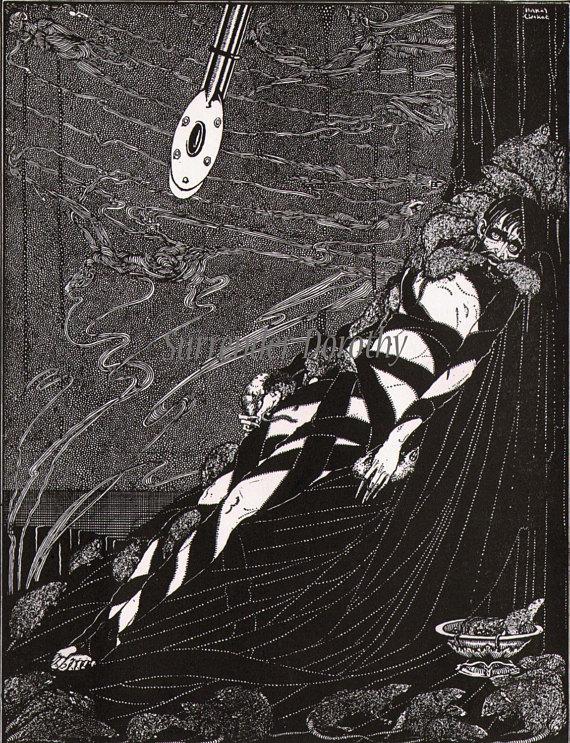 The Pit And The Pendulum Harry Clarke 1933 Edgar Allan Poe Original