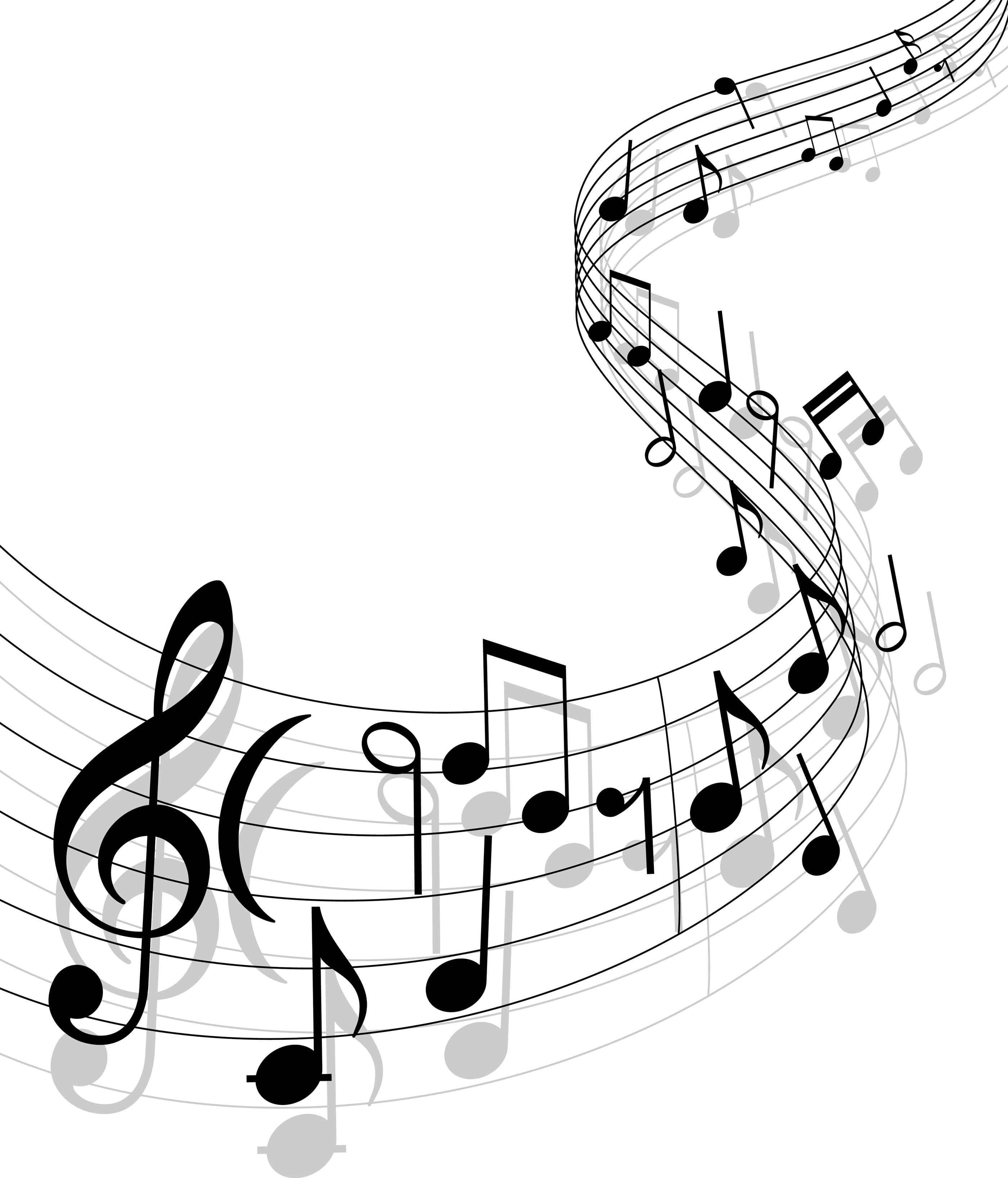 music note gospel musical notes clipart [ 2800 x 3272 Pixel ]