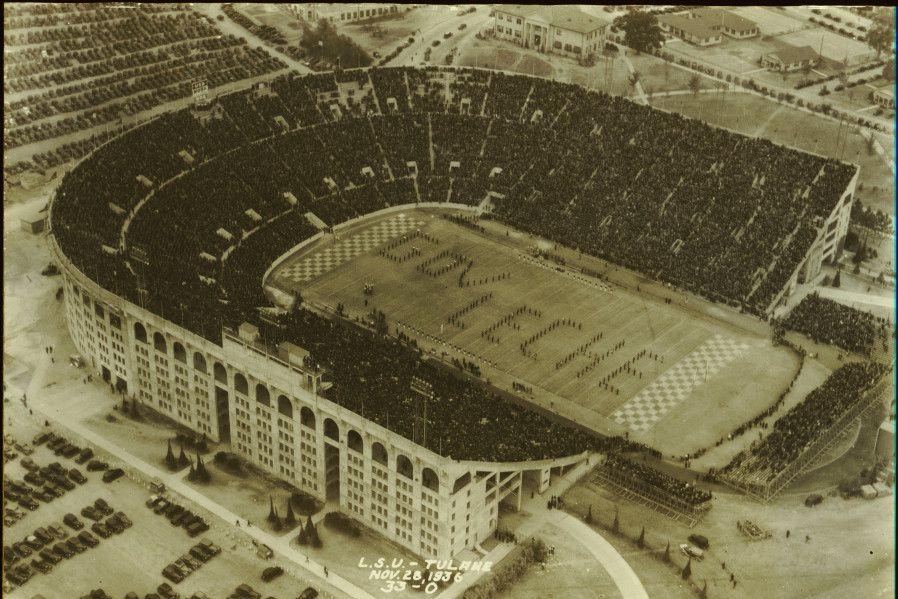 Aerial View Of Tiger Stadium Nov 28 1936 Lsu Tiger Stadium Tiger Stadium Lsu Stadium