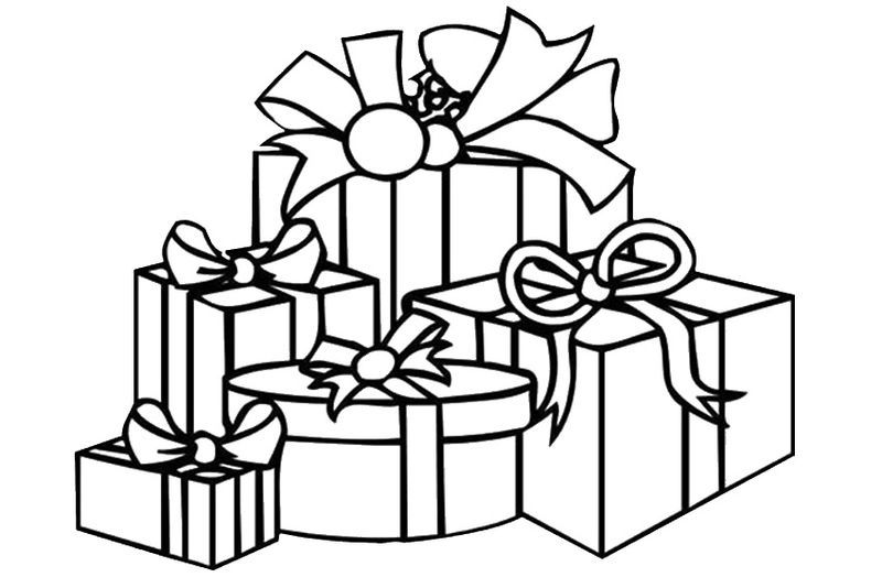 Christmas Presents Coloring Pages Kids