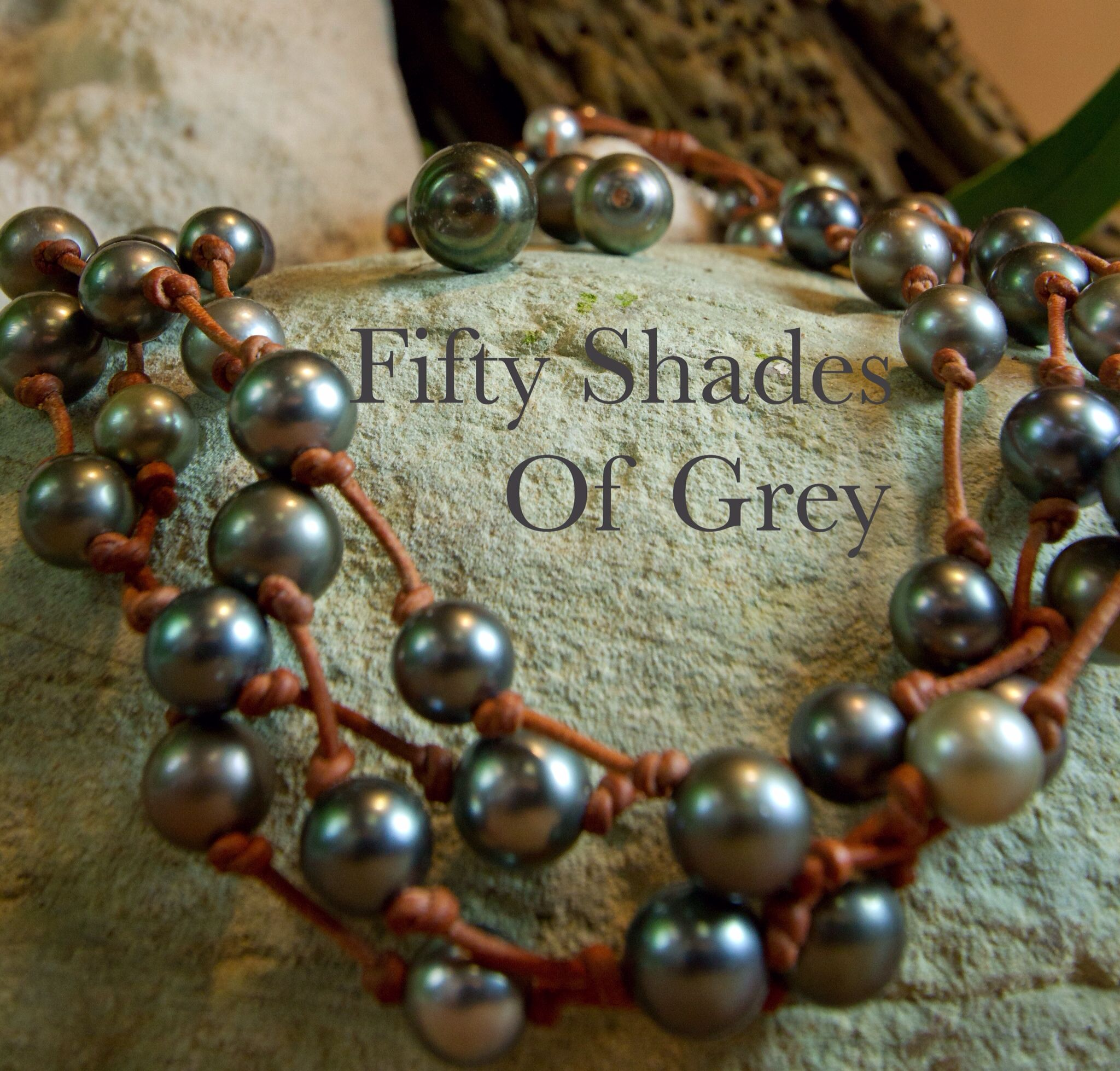 Tahitian Pearls and Leather