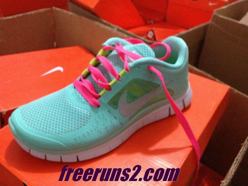 uk availability f85c4 bce60  Womens  Nike Free Run 3 Tropical Twist Reflect Silver Pure Platinum Hot  Pink Lace Tiffany Blue Cheap Nike Frees 2013 Shoes  like