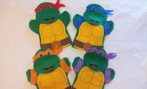 Hero Turtles Finger Puppets