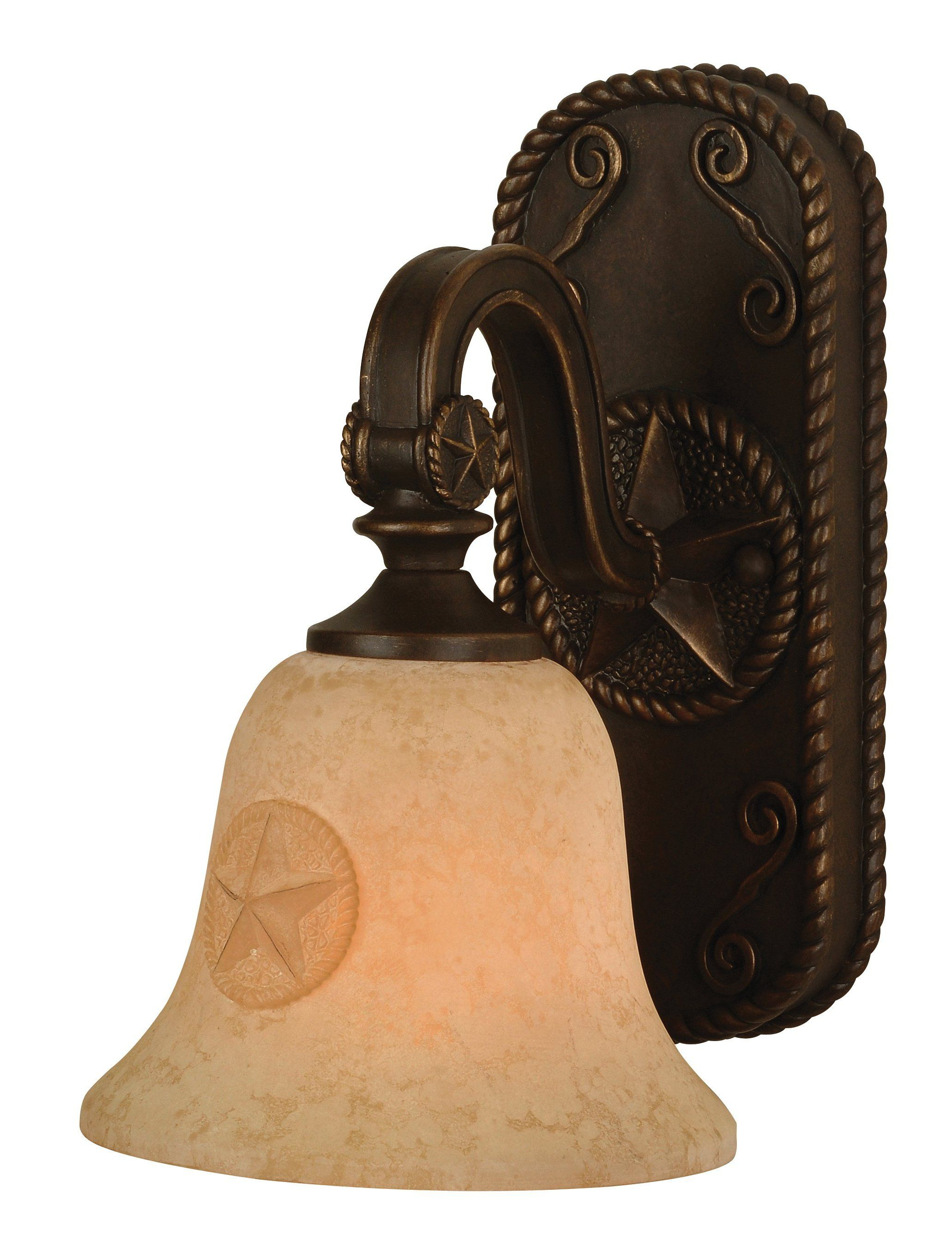 Western Rustic Patio Lighting Fixtures Chaparral Country Single Light 7 25 Length Bathroom Fixture