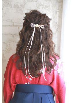 人気のヘアスタイル 髪型を探すならkirei Style キレイスタイル 袴 ヘアスタイル ハーフアップ 卒業式 髪型 スタイル