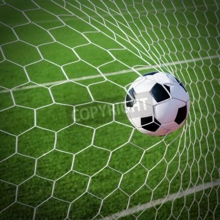 Soccer Ball Score Wall Mural Soccer Ball Goal Net Soccer