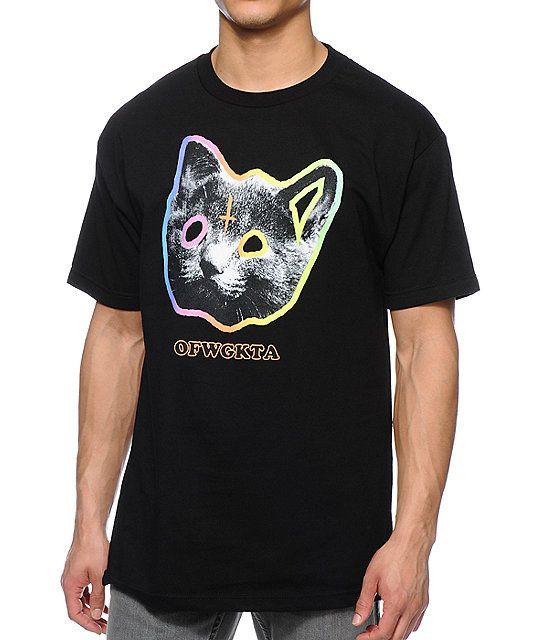 1d10f0492afc47 Odd Future OFWGKTA Tron Cat Black T-Shirt