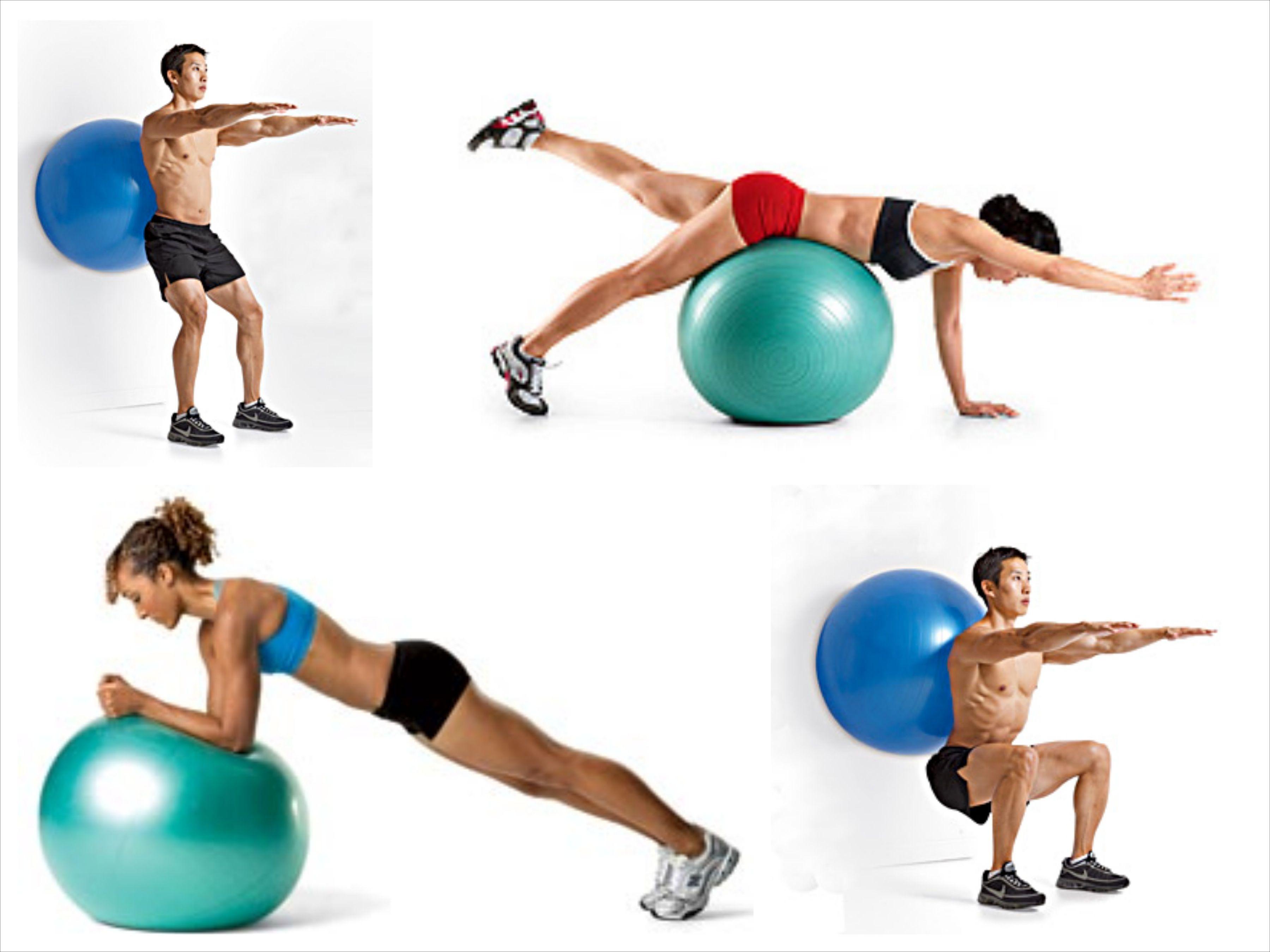 упражнения для похудения с мячом все картинки есть