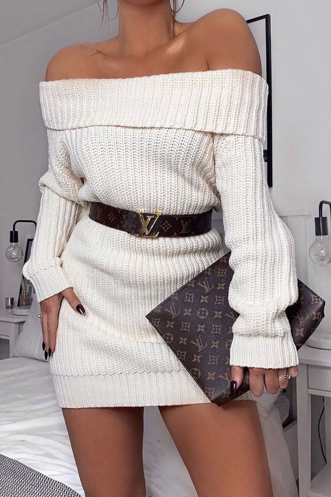 Hidden Feelings Sweater Mini Dress - Sand