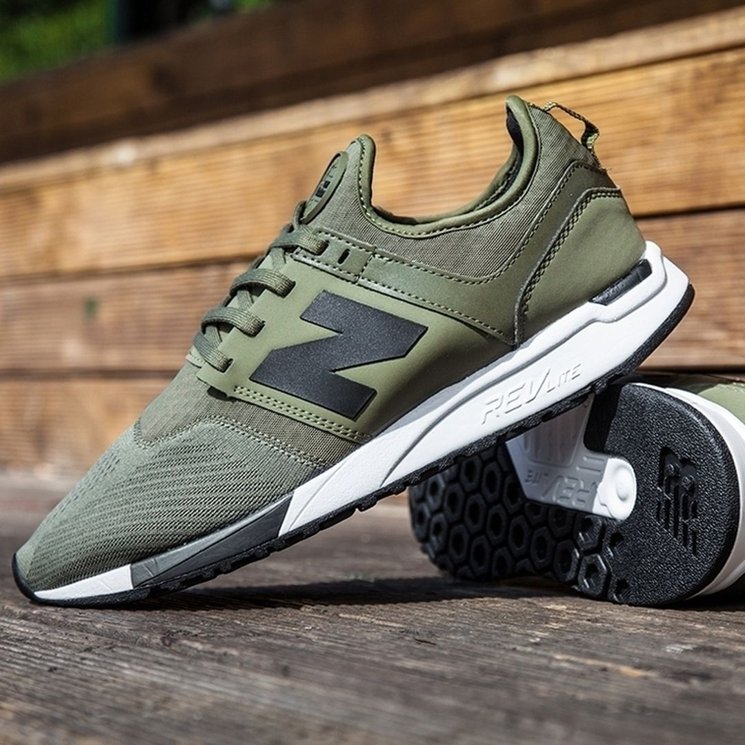 new balance khaki 247 trainers