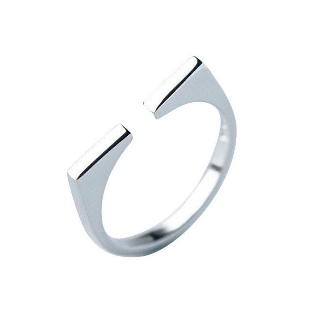 Split Bar Sterling Silver Ring