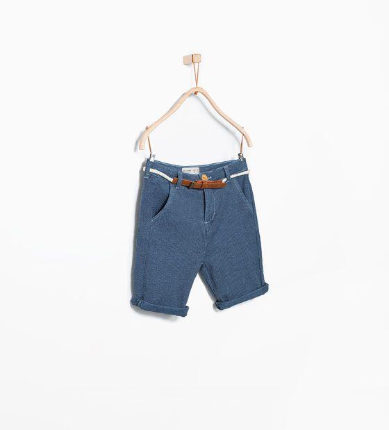 6c0ca2e6 ZARA - BARN - Bermudas med kontrasterande bälte | Kids clothes ...
