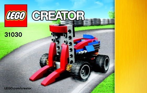Creator Red Fork Lift Lego 31030 00 Lego Box Or Cover