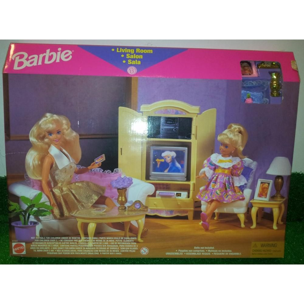Barbie livingroom playset 1996 recherche google barbie furniture collection - Google jeux barbie ...