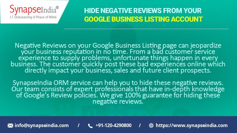 Hide Negative Reviews from your Google Business Listing