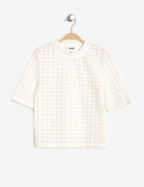 tee-shirt texturé écru
