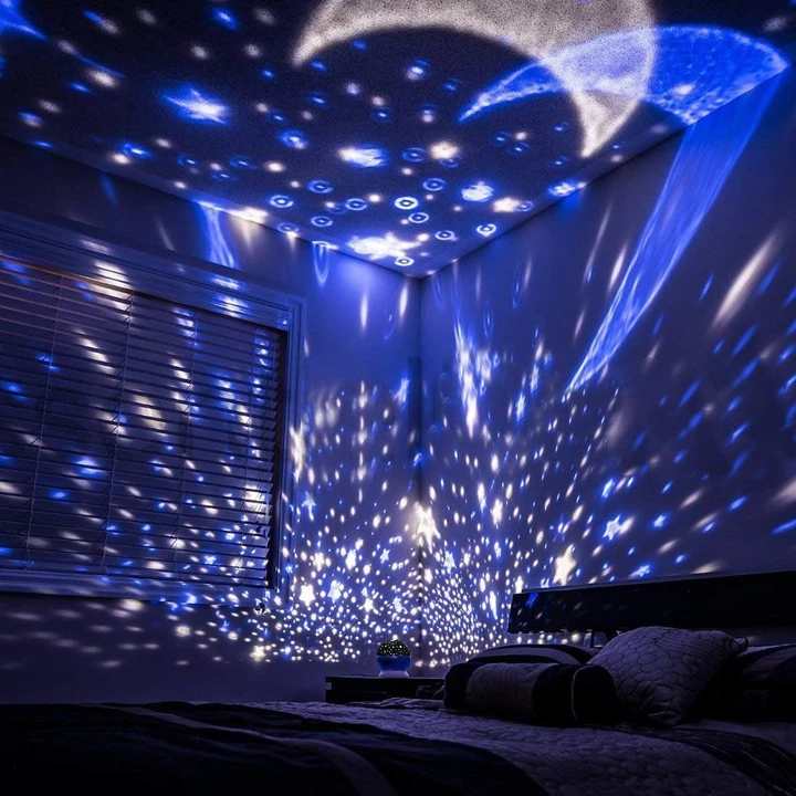 Kids And Baby Bedroom Ceiling Star Night Lights Projector Lamp Tinkle Gem Kidsroomsdecor Baby Starry Night Light Star Night Light Baby Night Light
