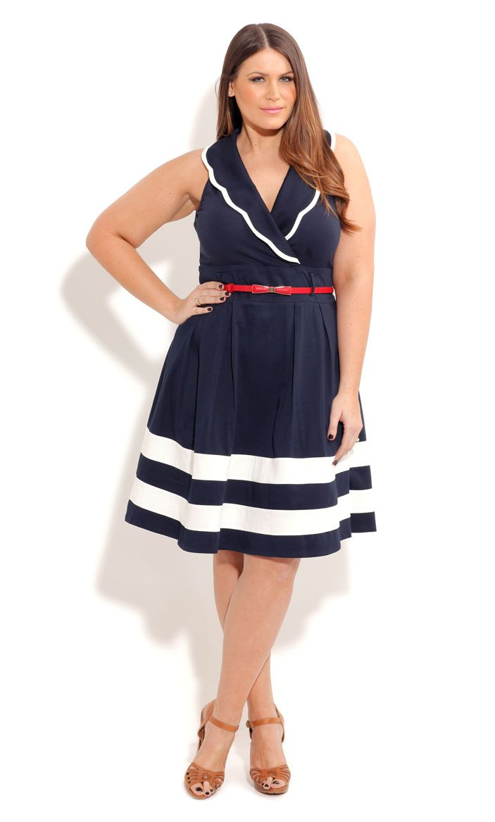 City Chic SAILOR SUZIE DRESS- Women\'s Plus Size Fashion | My dream ...