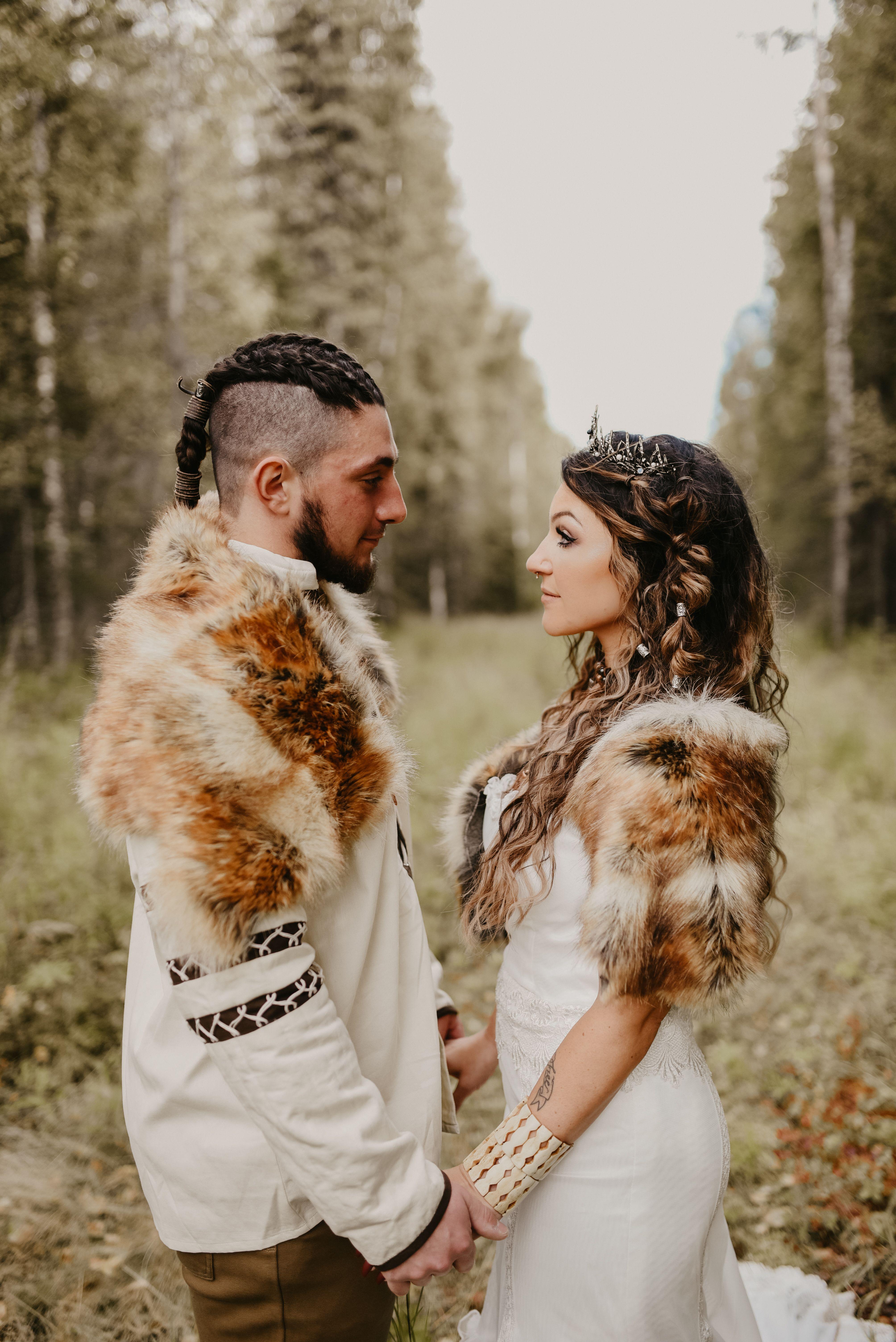 Viking bride and groom. Nordic wedding, Viking wedding
