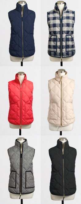 Fall Must-Have  Quilted vests in every color! White Vests ded0617ba