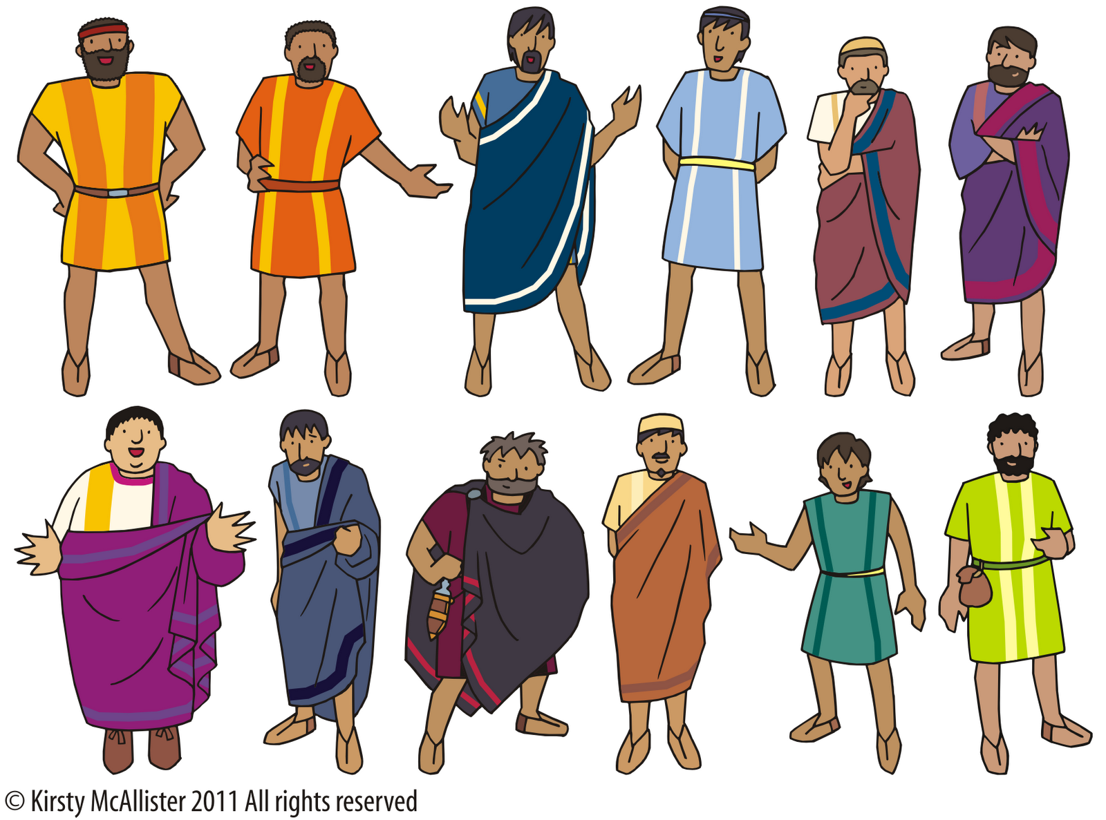 The 12 Disciples Print And Laminate With Magnet Paper