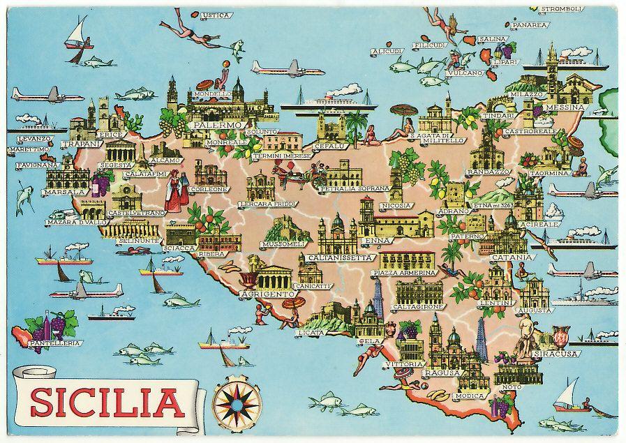 Sicilia Geografica Cartina.Dettagli Su Sicilia Cartina Geografica 24178 Map Italy
